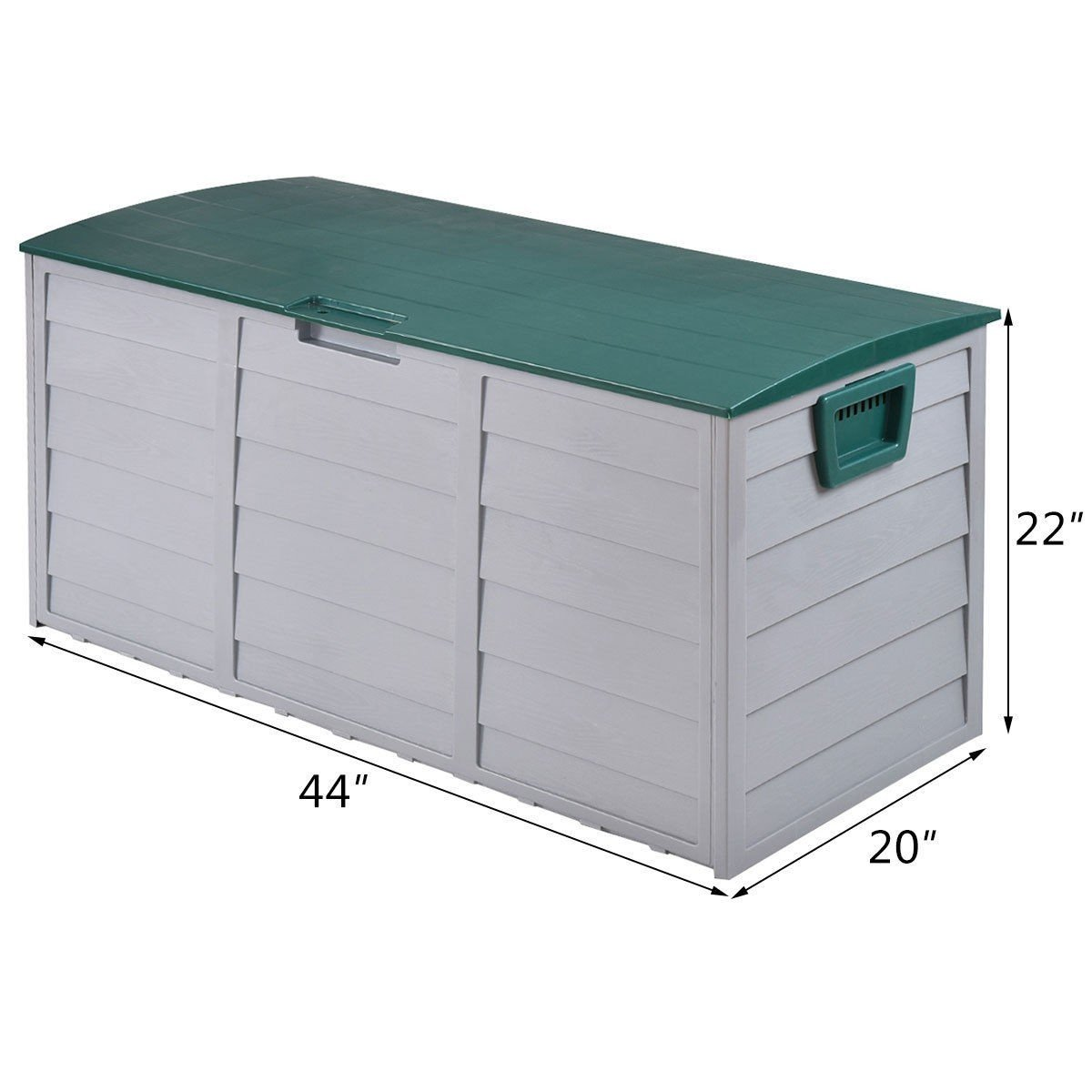 COSTWAY 70 Gallon Durable Outdoor Plasic Storage Box + FREE E-Book by COSTWAY (Image #2)