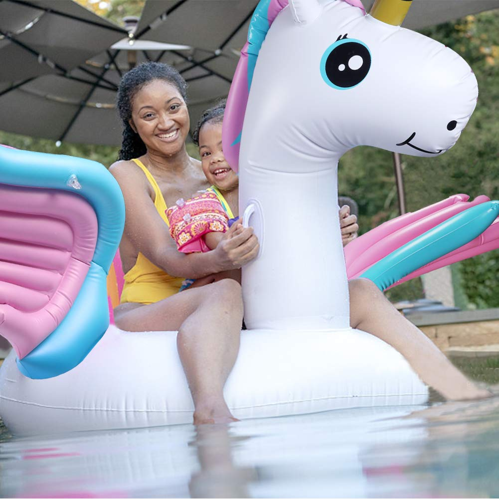 Schwimmtiere Aufblasbar Flo/ß f/ür den Sommerstrand Wasser Aufblasbares Pool Schwimmreifen Pool Spielzeug Wasserspielzeug Party Kinder Erwachsene 88 * 70 * 52inch Tencoz Aufblasbare Pool Spielzeug