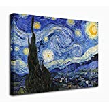 Amazon Price History for:Wall Art Canvas Prints The Starry Night Painting by Vincent van Gogh Framed 20 x 24 Inch Fine Art Reproductions Giclee Print on Canvas Ready to Hang for Home Office Decoration Wall Décor