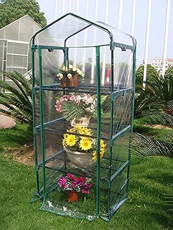 Quictent Hot 4 Tier Mini Portable Green Hot Grow Seeds House Indoor Outdoor  W/Shelves