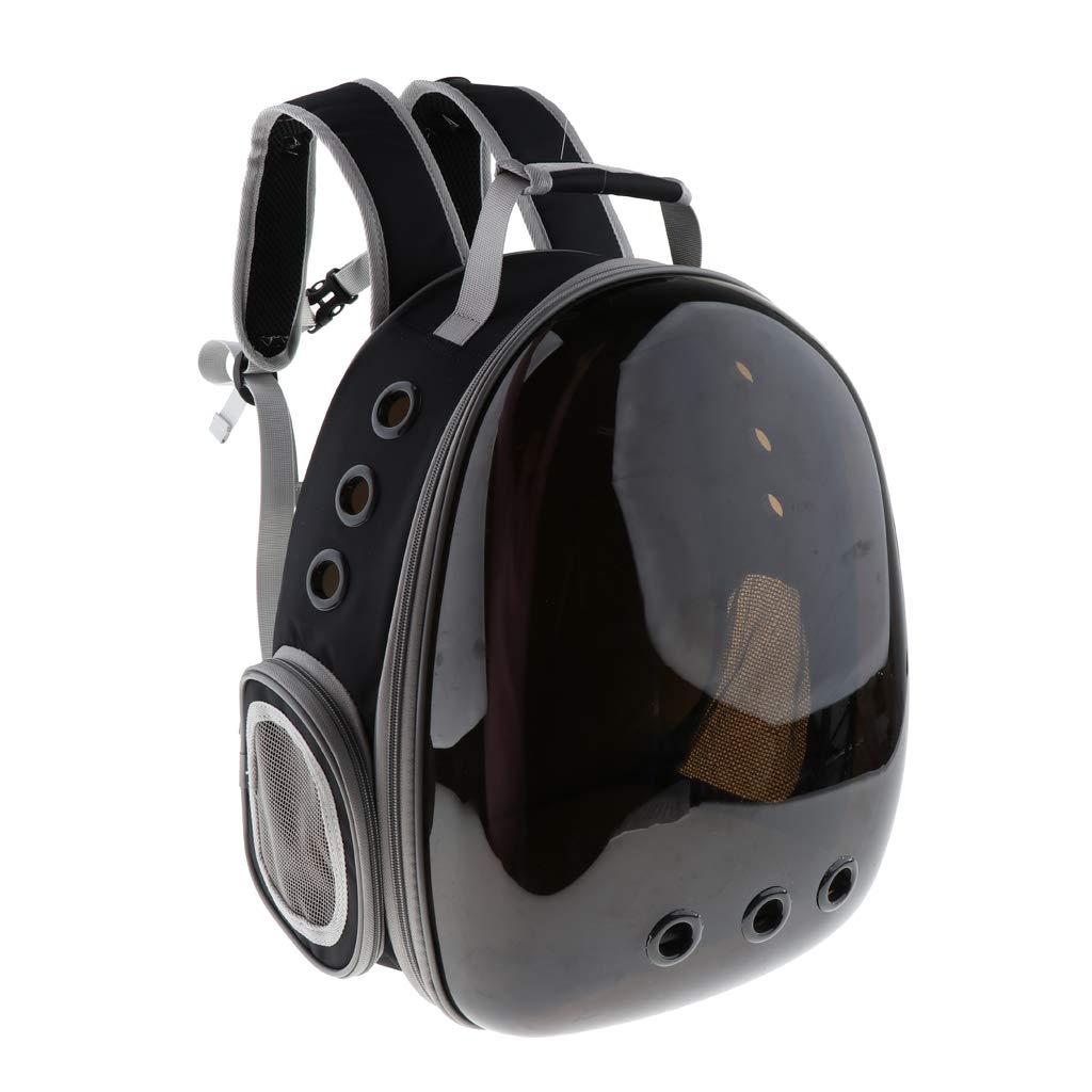 Kesoto Pet Space Capsule Carrier Backpack Waterproof Bag for Cats Dogs Black