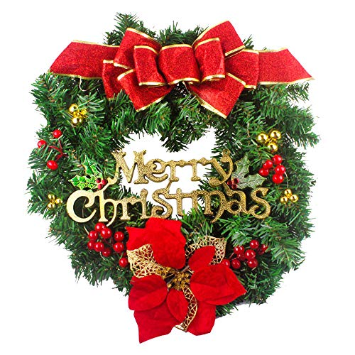 Coerni Christmas Decoration Wreath DIY Wall Hanging Ornaments 20 inch (Red) - Costume Wonder Woman Diy