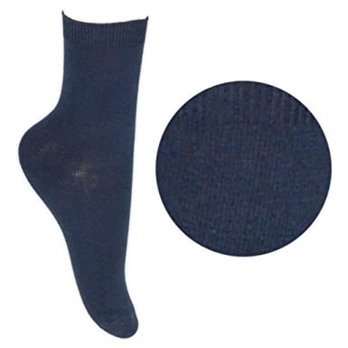 faa514bcc2b2c 3 Pairs Boys Girls School Ankle Socks 12-3 Navy Blue: Amazon.co.uk: Clothing