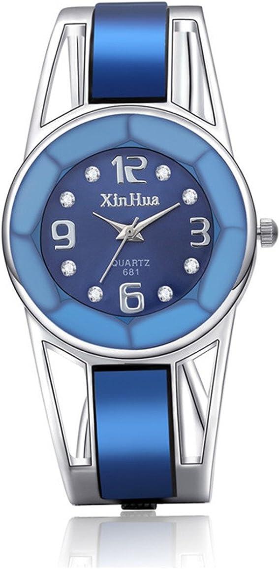 Amazon.com: Vavna - Reloj de pulsera para mujer, acero ...