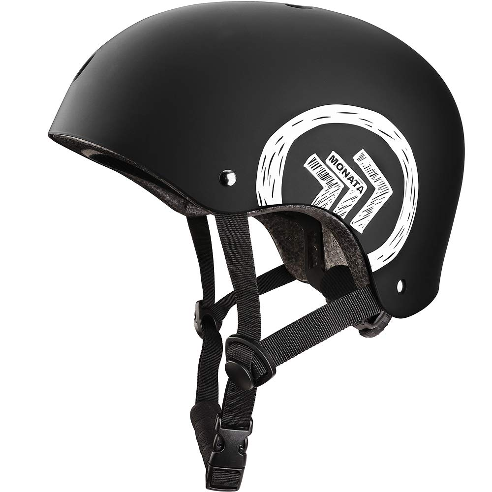 MONATA Skateboard Helmet with CPSC Certified for Skate Helmet Youth or Adults Multisport Roller Skating Skateboarding Cycling Scooter Longboarding Rollerblading by MONATA