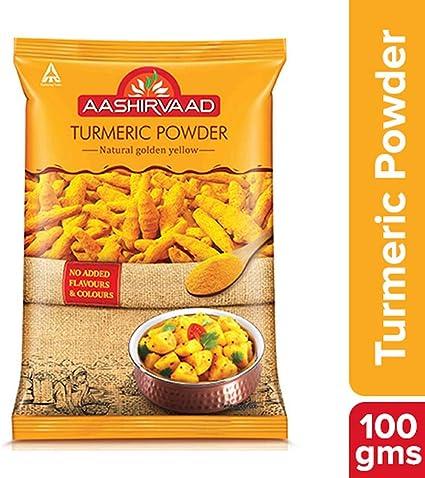 Aashirvaad Powder, Turmeric, 100g Pouch