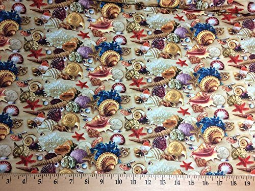Beach Sea Shells Sandy Beach Coastal Nautical Landscape Handcrafted Valance NEW (Window Beachy Treatments)