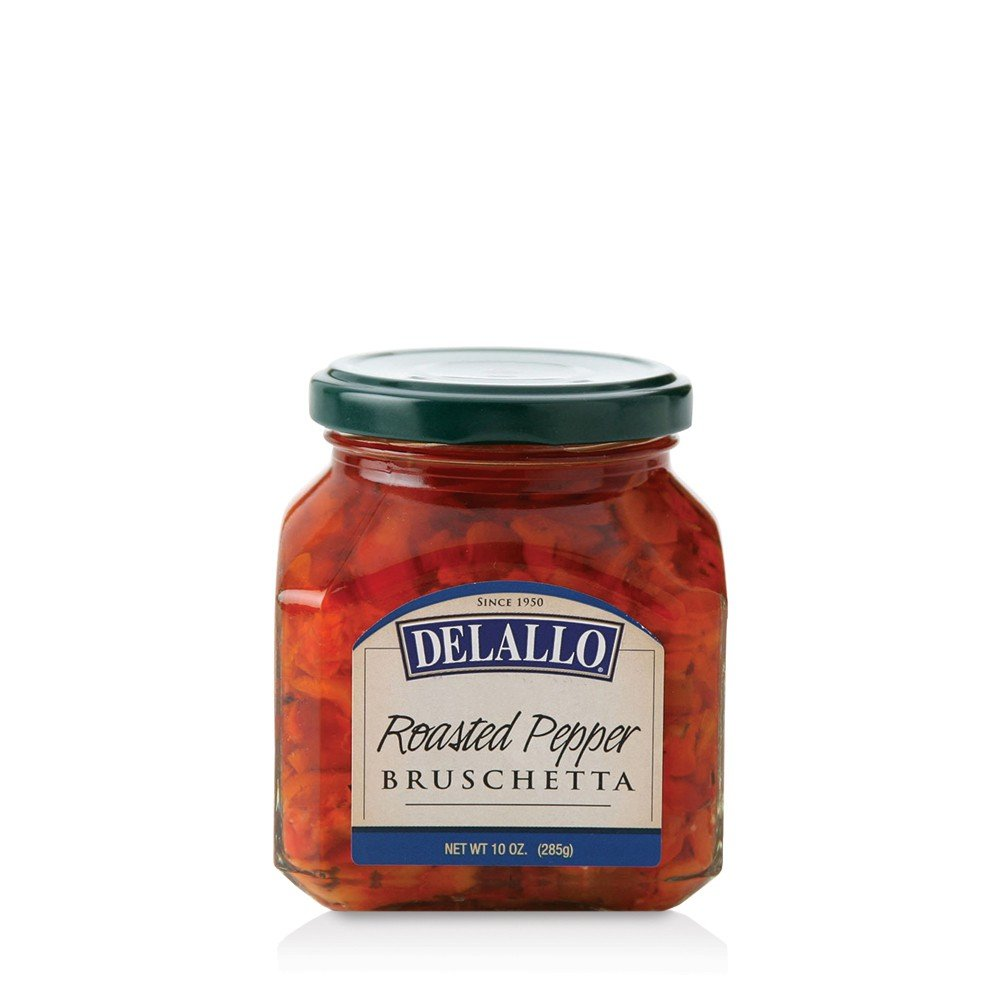 DeLallo Roasted Pepper Bruschetta, 10 Ounce (Pack of 6)