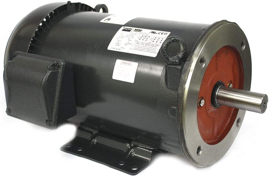 DAYTON 36VF22 GP Motor,TEFC,3 HP,1765 rpm,Belt Drive G0692231
