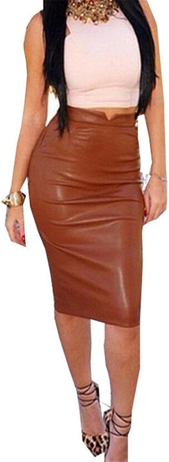 New Women Plain Bodycon Courte Extensible Bureau Crayon Femmes Jupe Plus Taille 8-18
