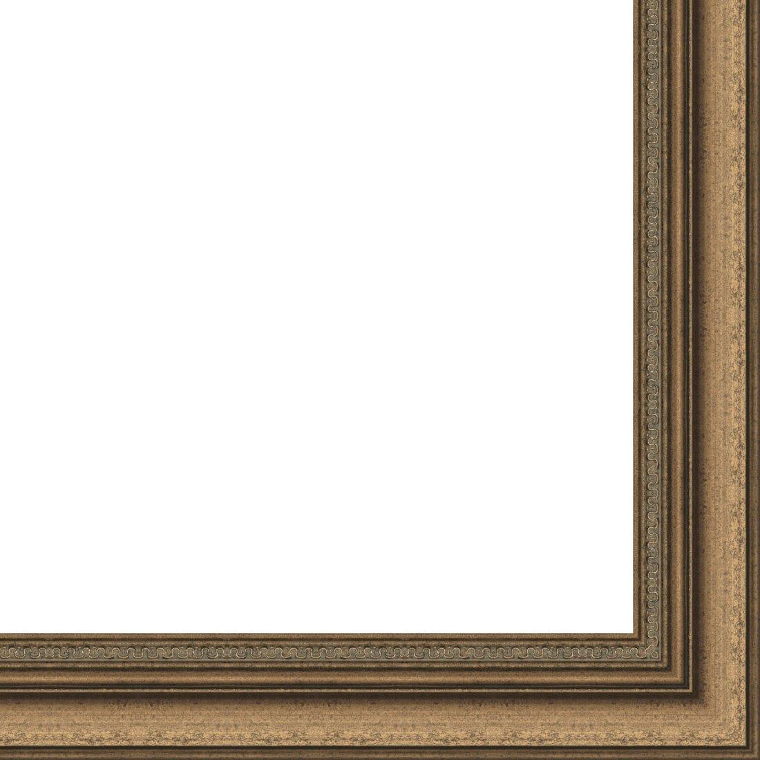 Picture Frame Moulding (Wood) 18ft bundle - Traditional Antique Gold Finish - 2'' width - 11/16'' rabbet depth