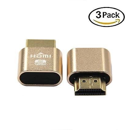 Amazon com: 4K Display Emulator Plug VGA Virtual Display