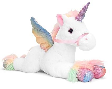 6974098b565bc Keel Toys Unicorn Pegasus Soft Toy