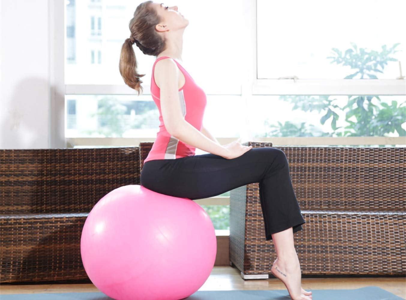 Amazon.com: Pelota de ejercicio para yoga, fitness, estabilidad de  equilibrio, extragruesa de grado profesional y pelota de estabilidad – anti  explosión Púrpura: Electronics