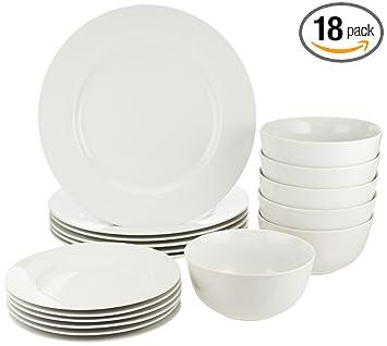 Amazon.com: AmazonBasics–Juego de platos ...