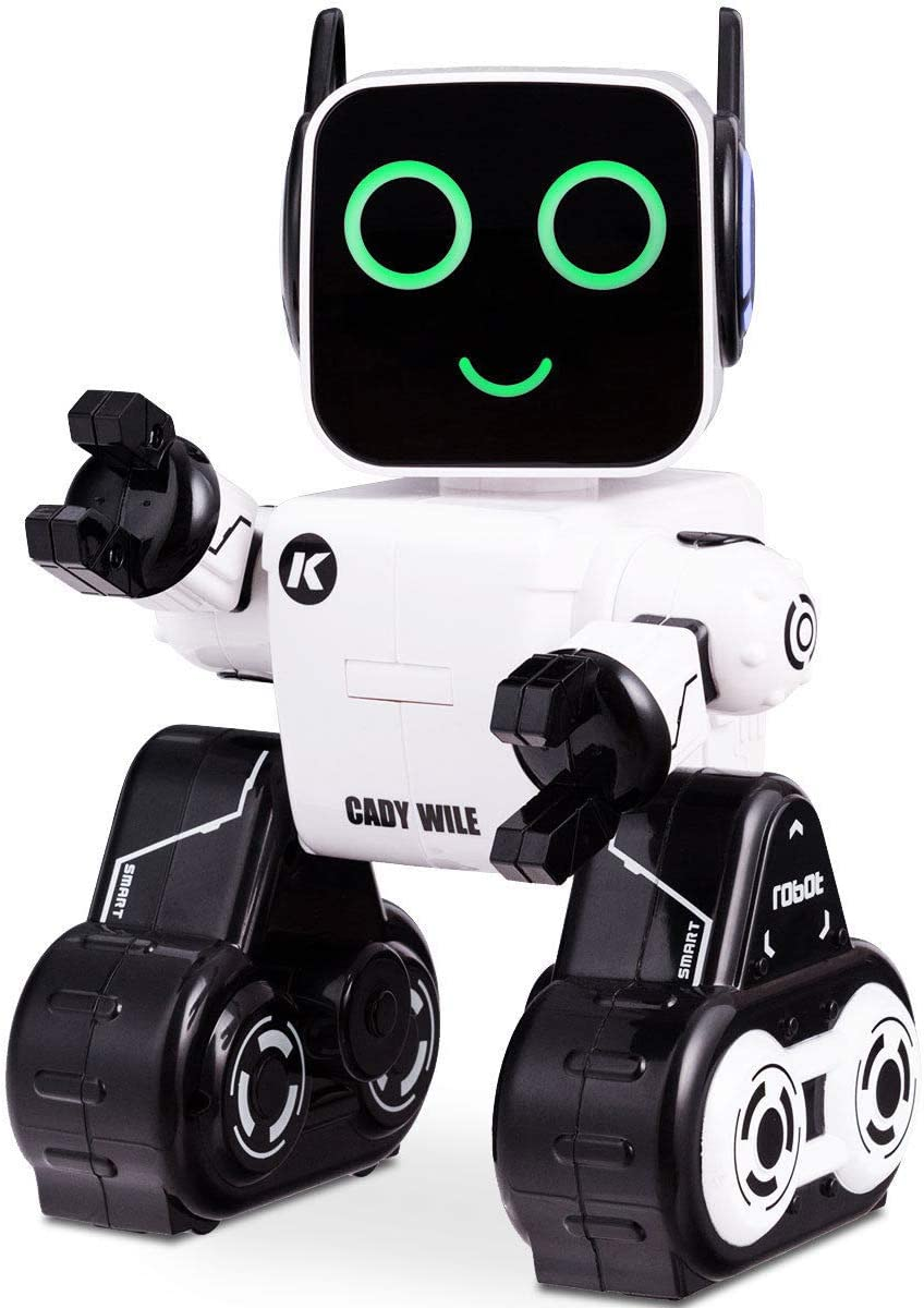Costzon Wireless Remote Control Robot White Dances RC Robot Toy Senses Gesture Sings Talks and Teaches Science Robot Smart for Kids