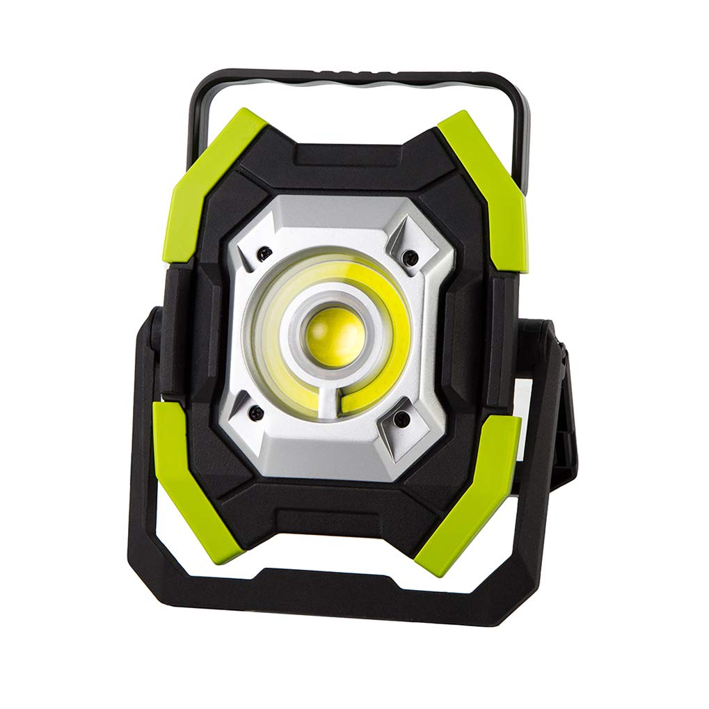 INQUIRY 2500LM 30W LED Rechargeable Work Light with Stand, Built-in 8000mAh Lithium Batteries, Waterproof