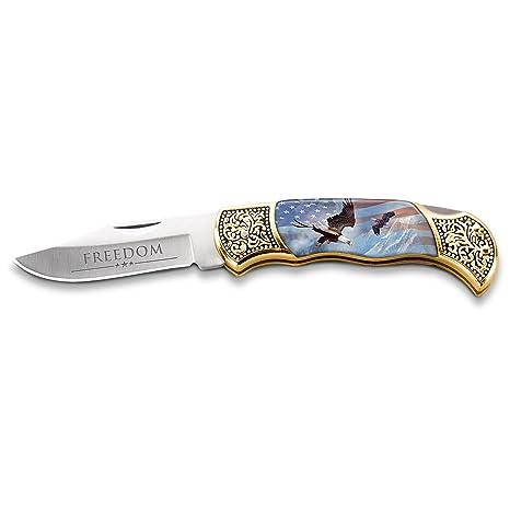 Amazon.com: Patriótico plegable cuchillo de bolsillo con Ted ...