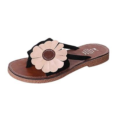 ea2c9b0700fe Lolittas Women Floral Personalised Flip Flops Thong Sandal Flat  Wedge