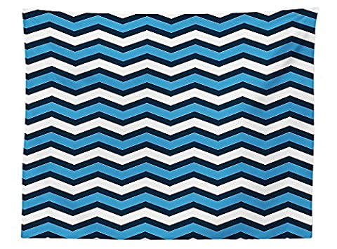 vipsung Geometric Decor Tablecloth Chevron Pattern in Nautical Colors Geo Marine Ocean Zag Zig Parallel Stripes Art Dining Room Kitchen Rectangular Table - Geo Coffee Table