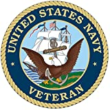 1 Set Distinguished Fashionable United States Navy Veteran Sticker Sign Bumper Vinyl Indoor Size 5