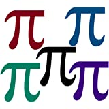 Colorful Pi symbol Tattoos for Pi day math teachers science camp