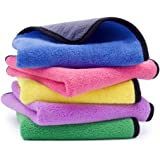 Ultra-Thick Microfiber Cleaning Cloth with 5 Bright Colors, Multipurpose Household Kitchen Towels, Softer Absorbent…