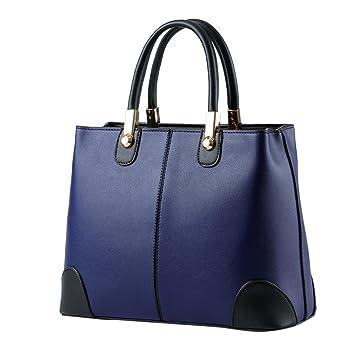 Bolso, Manadlian Bolso bandolera mujer Costura de moda Bolsa de hombro Mochila Bolsa de mensajero (31cm(L)*12cm(W)*22cm(H), Azul): Amazon.es: Hogar