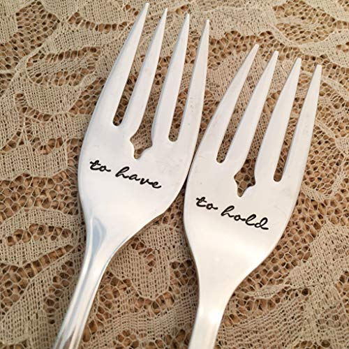 to have & to hold :hand stamped forks, vintage by Lorelei Vella, Camelot