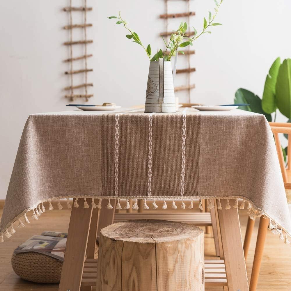 Pahajim Stitching Popular products Tassel Tablecloth High quality Heavy Cotton Weight Ta Linen