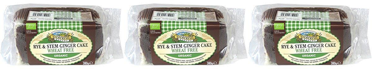 (3 PACK) - Everfresh Natural Foods - Org Rye Stem Ginger Cake | 380g | 3 PACK BUNDLE