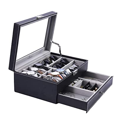 88109782dc5 Image Unavailable. Image not available for. Color  Watch Box Sunglasses  Organizer with Jewelry ...