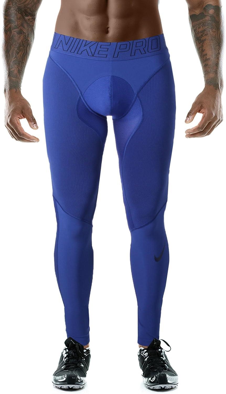 ac55ddedf5 Amazon.com: Nike Pro Hyper Men's Compression Tights Dri-Fit: Sports &  Outdoors