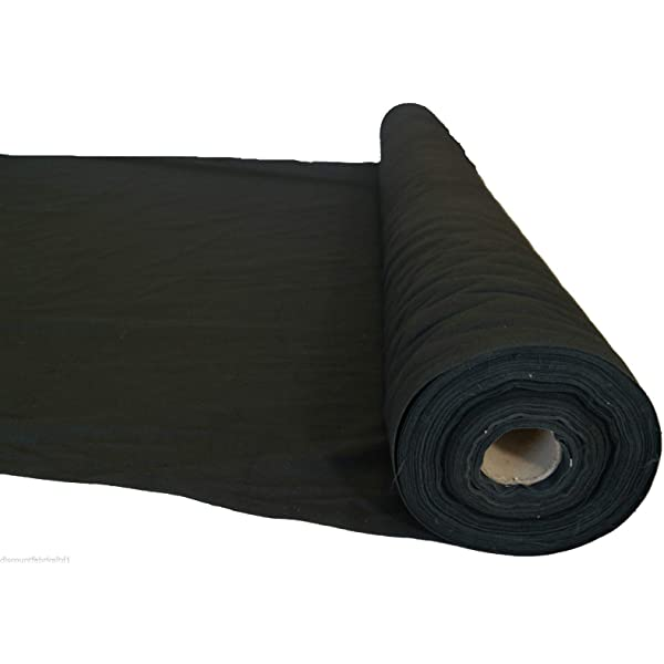 Tela lisa de color negro de 100% algodón, 150 cm por metro: Amazon ...