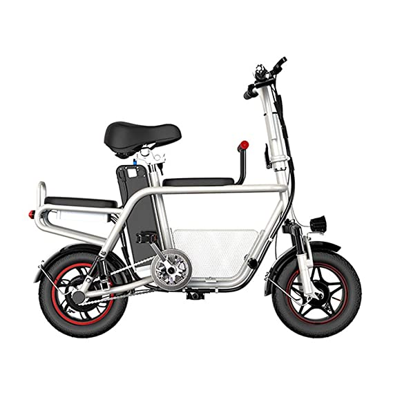 QIONGS Las Bicicletas eléctricas, Frenos de Tambor, Pantalla LCD ...