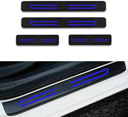 Car welcome pedal protection film door frame anti-scratch sticker with 4 colors
