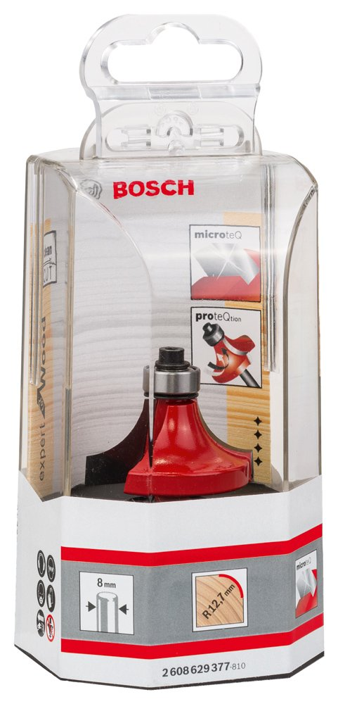 1mmx61mm Bosch 2608629377 Rounding Router BitExpert 8mmx38