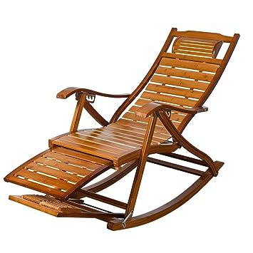 Bambú Chaise Lounges, Sillas Plegables Ajustables de Verano ...