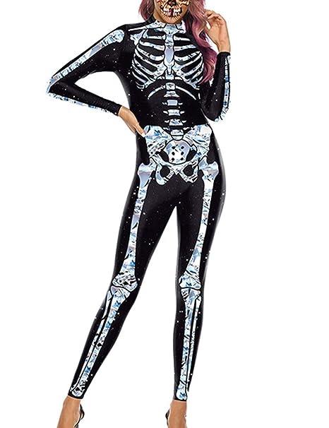 SOMTHRON - Disfraz de Esqueleto para Mujer Schwarz-2 S: Amazon.es ...