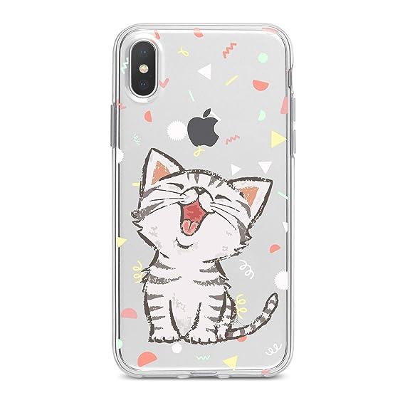 e4ee2cc02171 Lex Altern Case iPhone Xs X Max Xr 8 Plus 7 6s 6 SE 5s 5 TPU Cute Funny Cat  Clear Silicone Apple Kawaii Animal Confetti Phone Cover Print Protective ...