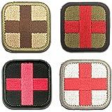 WZT 4 Pcs Medic Cross Tactical Patch