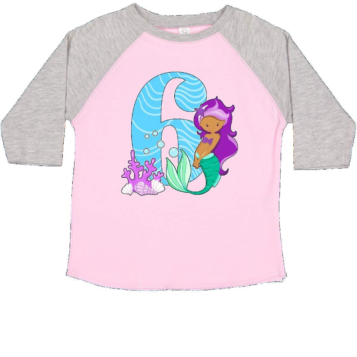 inktastic Sixth Birthday Mermaid Toddler T-Shirt