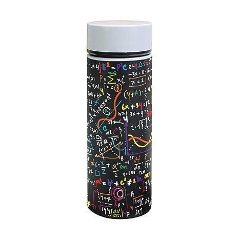 Amazon.com: DEYYA Math - Botella de agua con aislamiento al ...