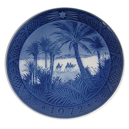 Royal Copenhagen Christmas Plates.Royal Copenhagen 1972 Porcelin Christmas Plate In The Desert