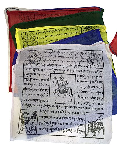 - Songkran Nepalese Prayer Flags - 25 Extra Large Colorful Quality Flags - 30 Foot Long Strand