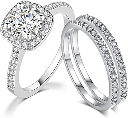Amazon Com Sdt Jewelry Three In One Bridal Wedding Engagement