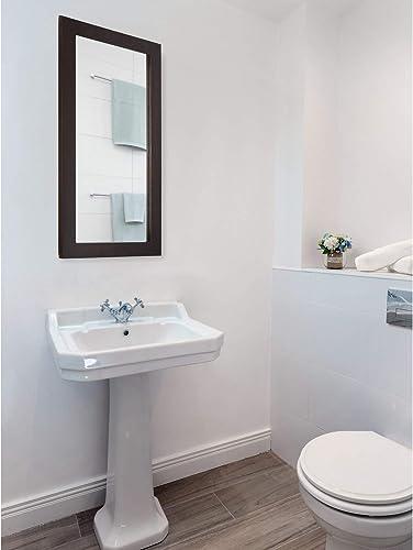 Design House 541326 Ventura Framed Mirrored Medicine Cabinet in Espresso, 16 W x 30 H