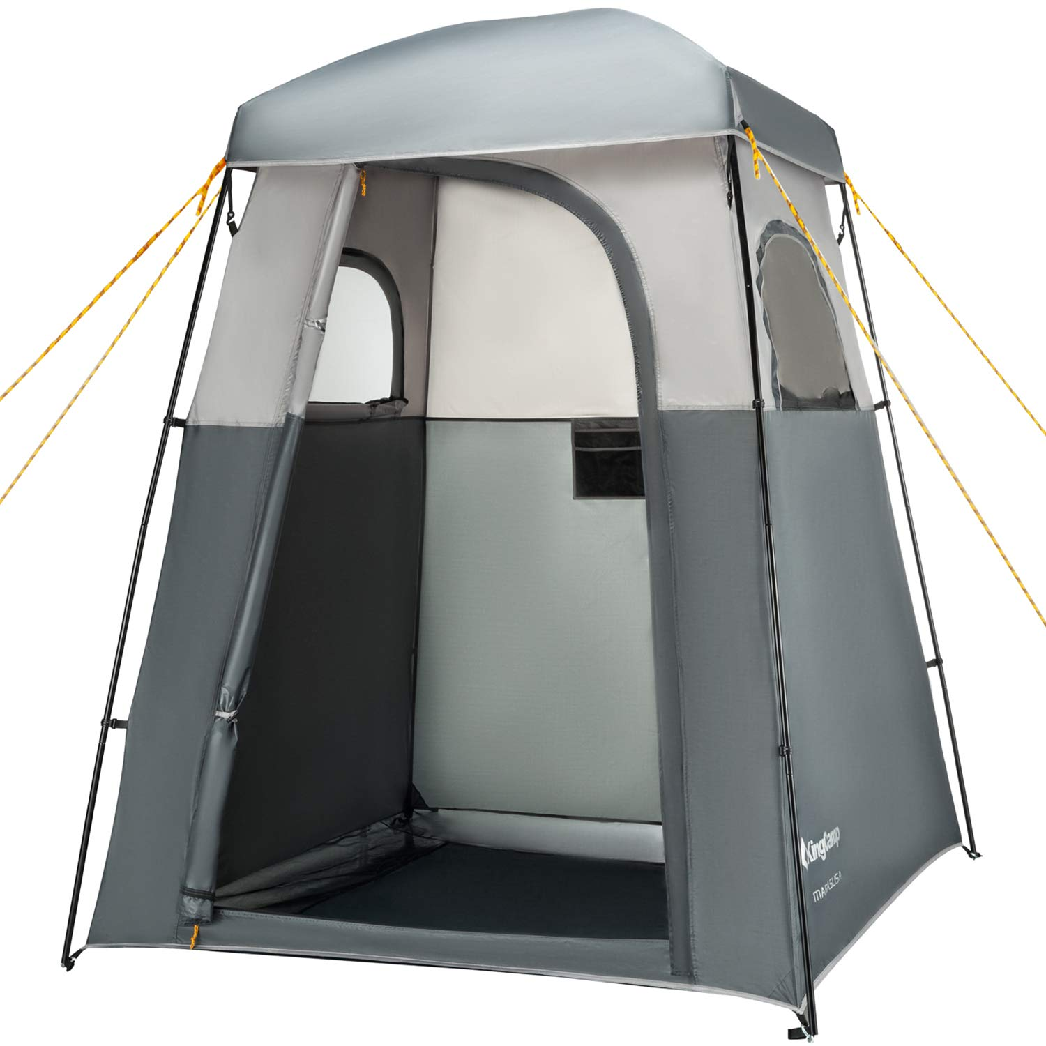 KingCamp Oversize Outdoor Easy Up Portable Dressing Changing Room Shower Privacy Shelter Tent, GRAY by KingCamp