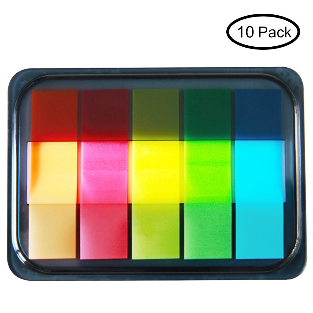 MyLifeUNIT Sticky Page Tabs, Colored Tape Flags, 1000 Sheets