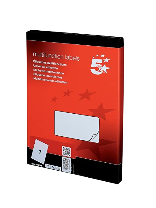 5 Star - Set de 100 etiquetas para fotocopiadora láser y de tinta ...